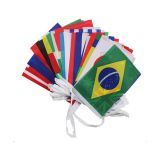 100 countries Rectangle String Flag 25m Lenght (14 x 21cm)